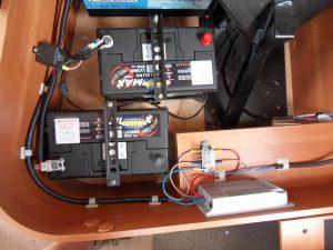 Installation of the solar regulator.