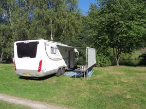 Camping next to the River Saar